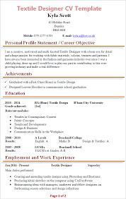 my resume template textile designer cv template tips and cv plaza