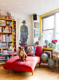 interiors rikki snyder chaise lounge bull dog colorful interior photography jpg