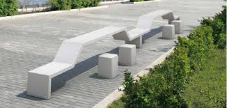 monolithic cantilever modular bench entirely made of reconstitued
