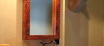 copper bathroom mirrors copper sinks unique copper mirrors
