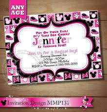 oh toodles minnie mouse printable birthday invitation diy minnie