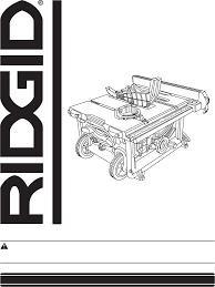 Ridgid Table Saw Parts Ridgid Saw R4516 User Guide Manualsonline Com
