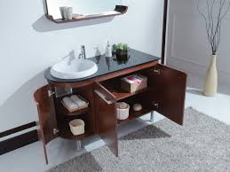 arturo 47 inch modern single sink bathroom vanity with glass top