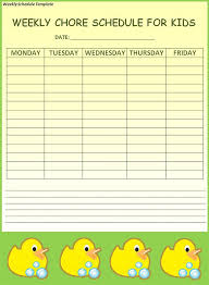 weekly schedule template 19 free word excel pdf download