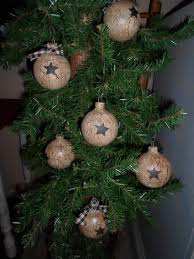 rustic decor tree bulbs ornies crackled you get 6 unique country