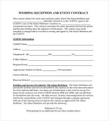 Free Wedding Samples By Mail Sample Wedding Planner Contract Wedding Contract Template 18