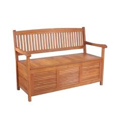 Outdoor Furniture At Bunnings - mimosa 127 x 60 x 89cm timber storage bench bunnings warehouse