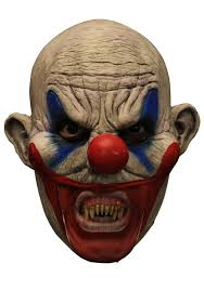 halloween mask clown clooney clown w teeth mask