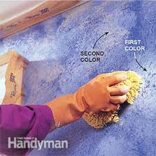 how to sponge paint a wall family handyman