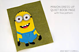 minion quiet book free printable pattern