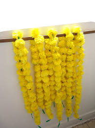 yellow marigold flowers string artificial marigold garlands