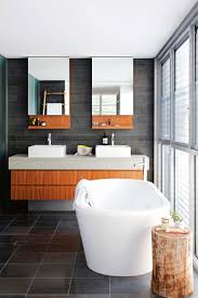 Images Of Modern Bathrooms Bathroom Stacked Tile Backsplash And Floating Vanity With