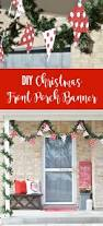 diy christmas front porch banner with the cricut maker the happy