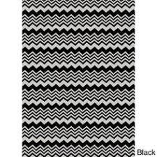 Chevron Print Area Rug Safavieh Handwoven Moroccan Reversible Dhurrie Black Wool Area Rug