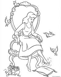 princess glass shoes cinderella kids56dc coloring pages