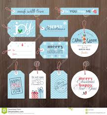 set of flat design christmas and new year tags stock vector