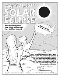 coloring books solar eclipse 2017 free online coloring page