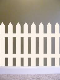 picket fence vinyl wall decal french country home cottage chic