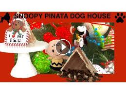 snoopy dog house christmas christmas peanuts snoopy dog house pinata treats diy dog