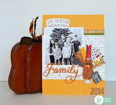 thanksgiving turkey scrapbook layout pebbles inc