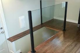 Glass Banisters For Stairs Interior Glass Railings Deckview Glass U0026 Railing Calgary
