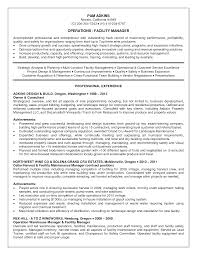 facilities manager resume summary nice idea resume for restaurant