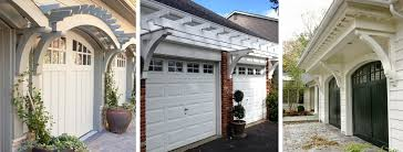 Garage Door Curb Appeal - give your garage style and curb appeal with a garage arbor