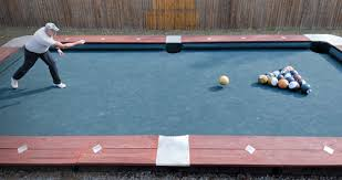 Pool Tables Games You Won U0027t Believe This Life Size Backyard Pool Bowling Table