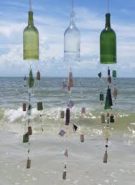 15 inspired ways to decorate with empty wine bottles wind chimes