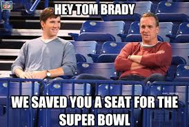 Peyton Manning Tom Brady Meme - new england patriots lose in playoffs eli and peyton manning save