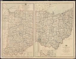 State Of Indiana Map Post Route Map Of The State Of Ohio Showing Post Offices With The