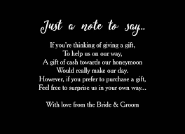 Wedding Gift Money Poem Calligraphy Wedding Gift Wish Card From 0 40 Each