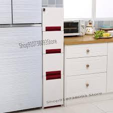 narrow storage cabinet for kitchen package mail 24cm slit drawer type storage cabinet