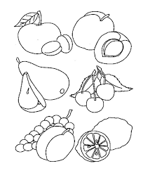 the good healthy food coloring page for kids kids coloring pages