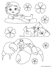 moana baby disney coloring pages printable