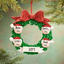 personalized wreath family ornament tree decorations miles kimball