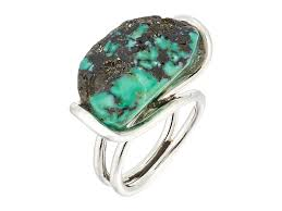 turquoise stone king baby studio wire ring w a natural turquoise stone at luxury