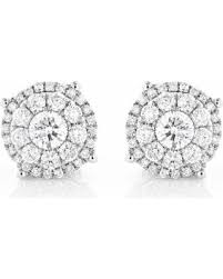 diamond stud size great deals on luxurman 14k gold 2ct tdw cut diamond stud