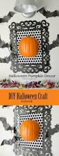 halloween picture frame crafts framed pumpkin halloween decor tutorial diy frame white damask