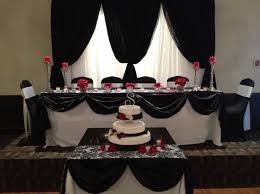 wedding backdrop rental vancouver black and white damask table with accents by absolute