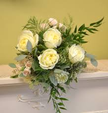 chesters flowers vintage garden bridal bouquet with white polo roses pale pink