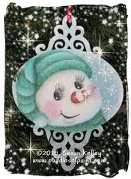snowman snowflake ornament tole painted wood 11 00 via etsy