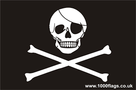 pirate skull and crossbones jolly roger car sticker self cling