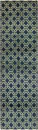 Ikat Runner Rug Navy Blue 2 U0027 7 X 9 U0027 5 Ikat Runner Rug Oriental Rugs Irugs Uk