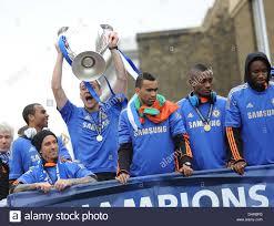 Chelsea Parade Ashley Cole Raul Miereles John Terry Jose Bosingwa Saloman