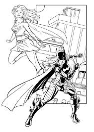 Batgirl And Supergirl Working Together Coloring Pages Best Place Batgirl And Supergirl Coloring Pages Printable
