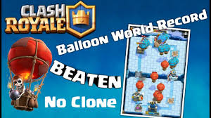 clash royale world record number of balloons in one game youtube