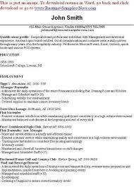 resume exle for server bartender bartenders resume 10 resume for bartenders mla cover page being