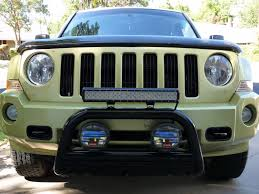 jeep light bar grill jeep patriot modification led adventure