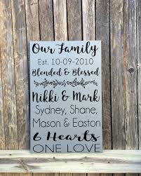second marriage gifts blended family sign blended family gifts blended family